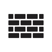 brick wall icon  for website design, logo