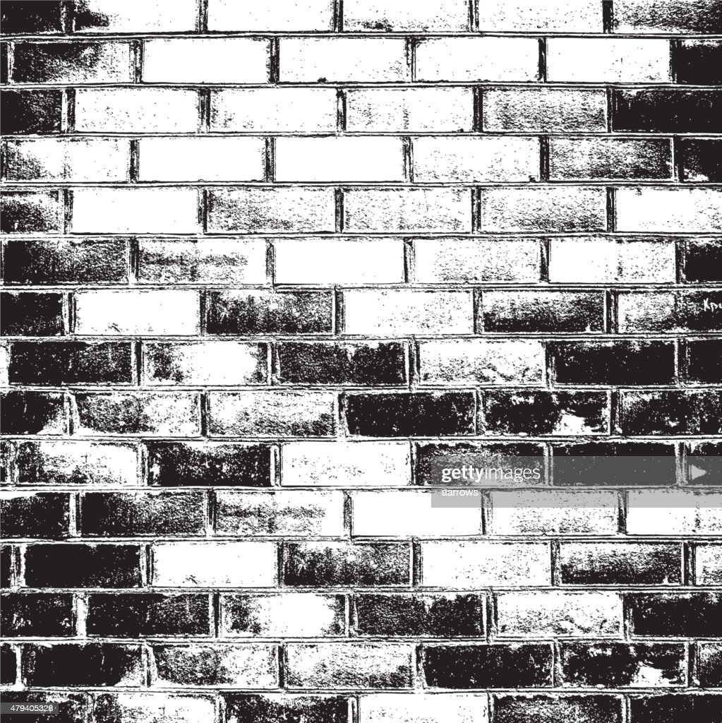 Brick wall of the house, with lines