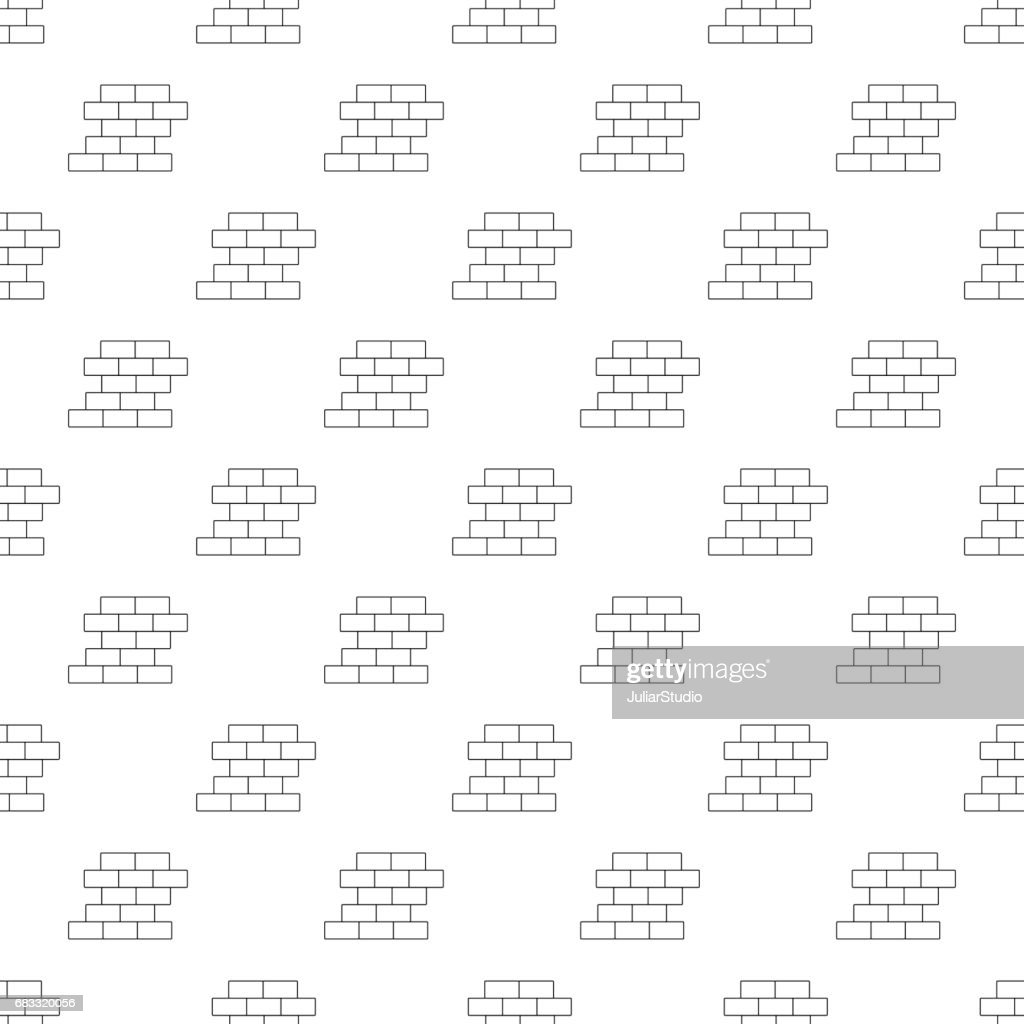Brick wall pattern seamless