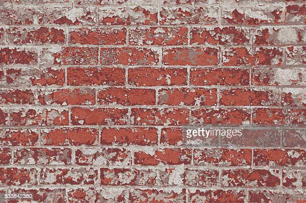Brick Wall red rustic grunge rough textured background