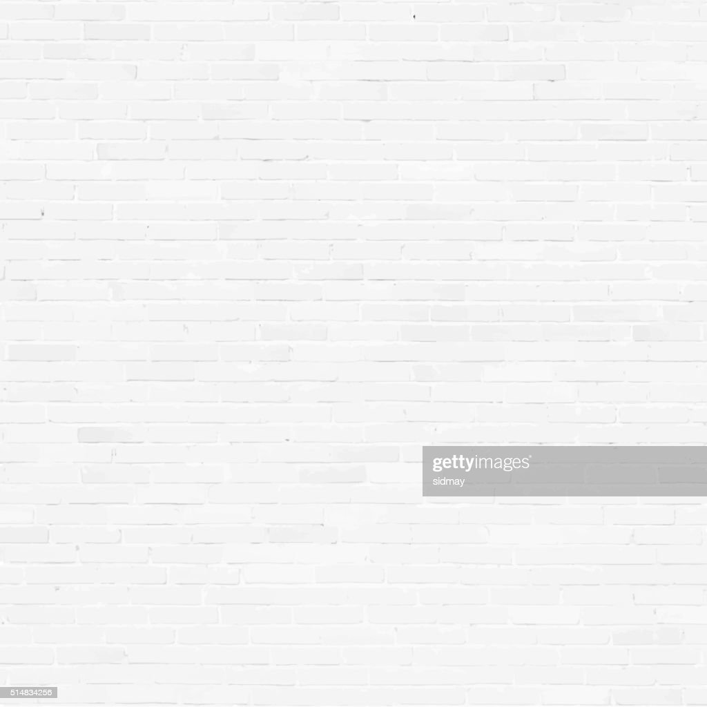 Brick wall, white relief texture with shadow