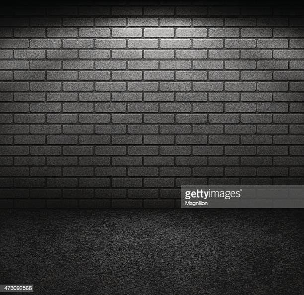 brick wall with light - brick stock illustrations
