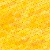 Brick Wall Yellow Background. Abstract Stone Pattern
