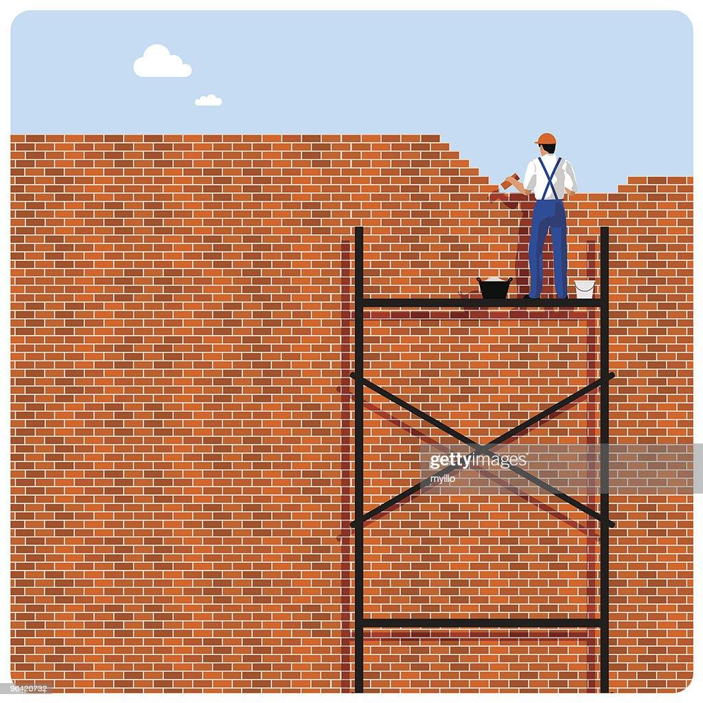 Brick wall-paper
