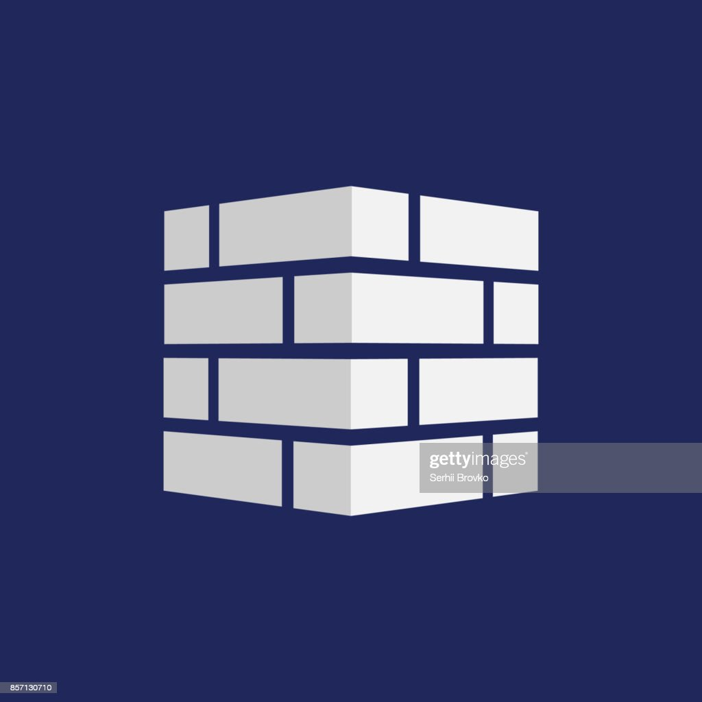 Bricks icon. Bricks logo. isolated on background. Vector illustration.
