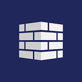 Bricks icon. Bricks logo. isolated on background. Vector illustration.