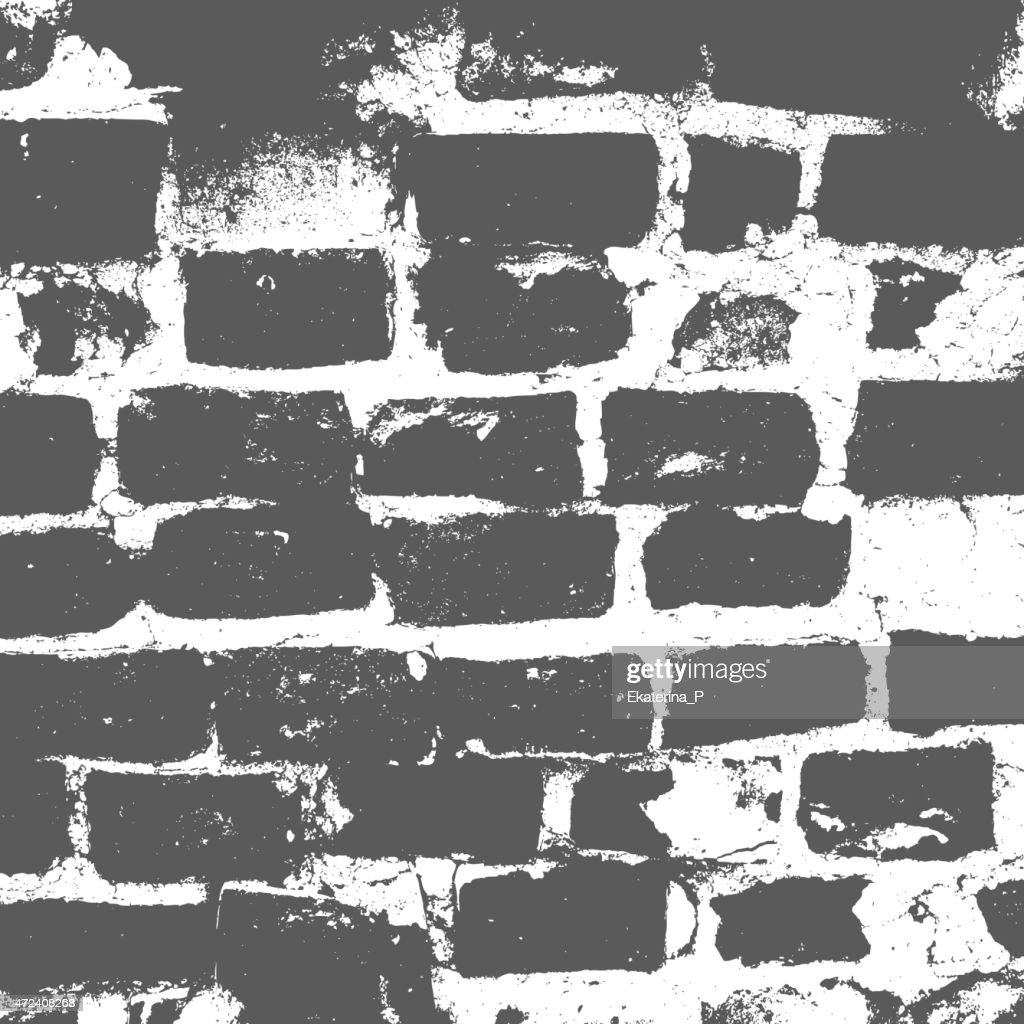 Brickwork, brick wall of an old house,  grunge texture, abstract