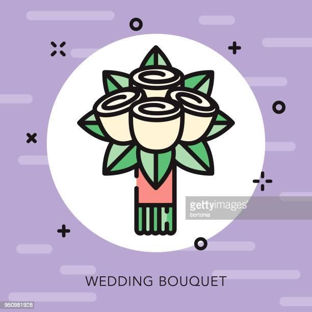 Brautstrauß offen Übersicht Hochzeit-Symbol