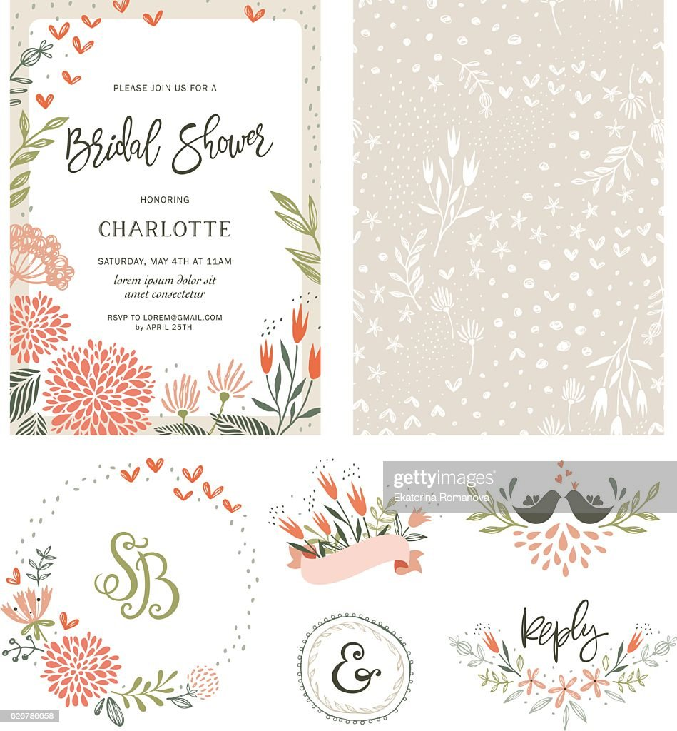 Bridal Shower Floral Set