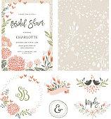 Bridal Shower Floral Set