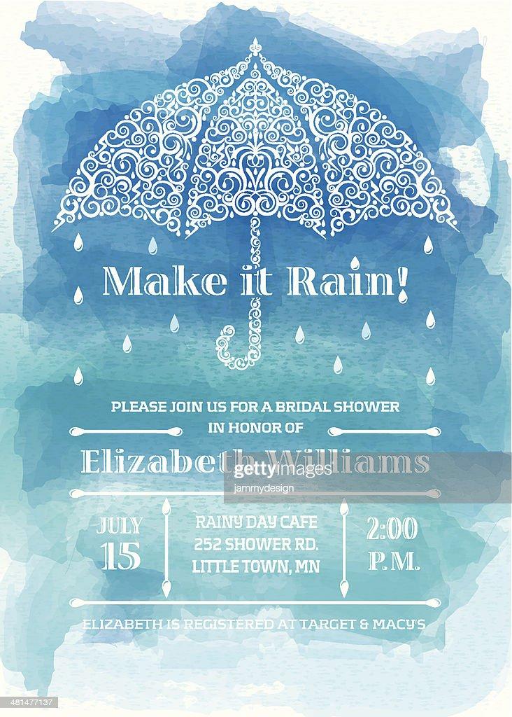 Bridal Shower Umbrella Invitation