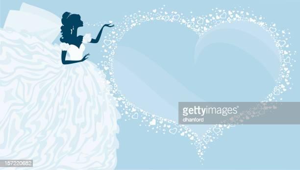 Bride Silhouette Blowing Kisses