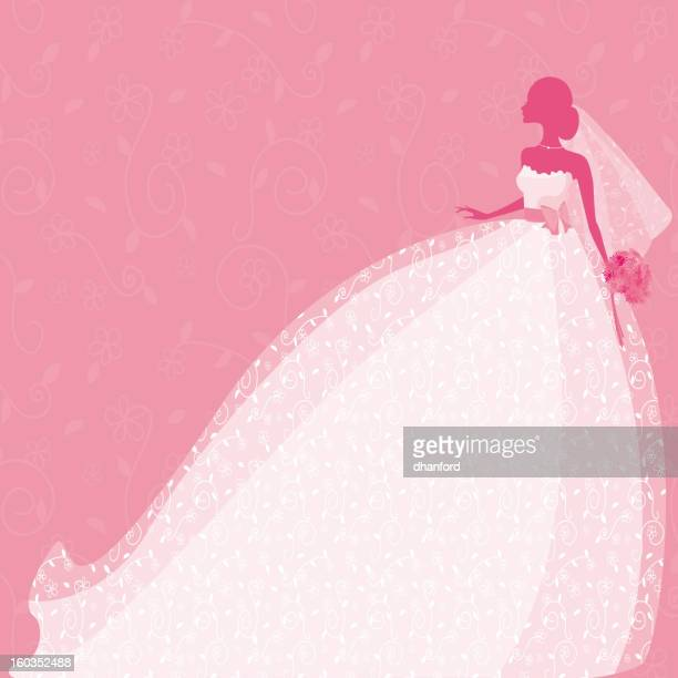 Bride Silhouette in Pink