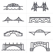 Bridge and Arch Icons and Symbols