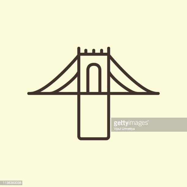 bridge icon. - aqueduct stock illustrations, clip art, cartoons, & icons