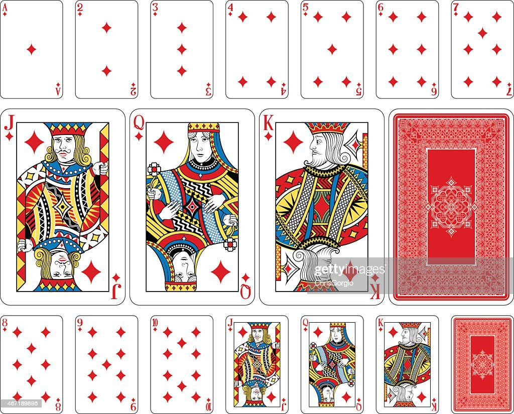 Bridge size Diamond playing cards plus reverse