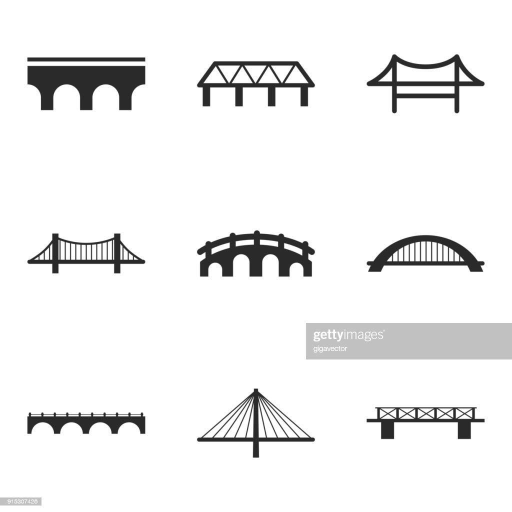 Bridge vector icons.