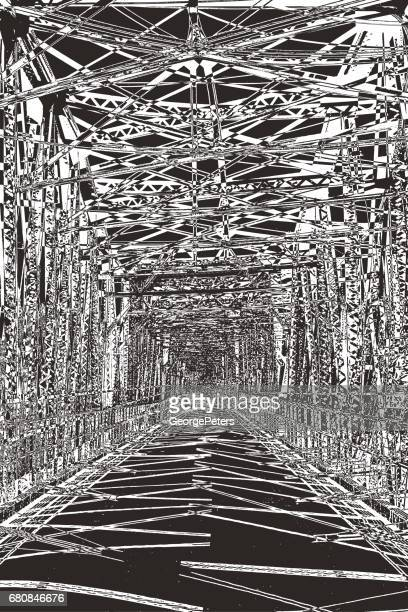 bridge with dramatic perspective and texture - {{relatedsearchurl('racing')}} stock illustrations, clip art, cartoons, & icons