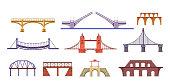 Bridges illustration set
