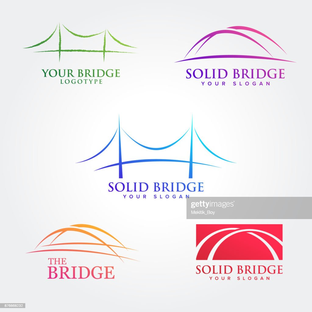 Bridges illustration symbol collections