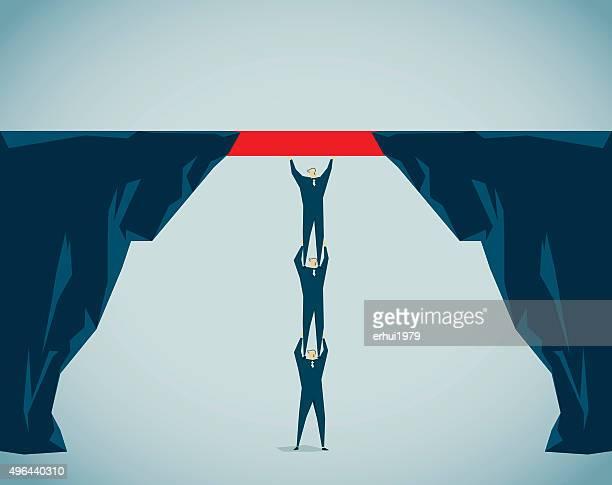 ilustrações, clipart, desenhos animados e ícones de estabelecer uma ponte - estabelecer uma ponte