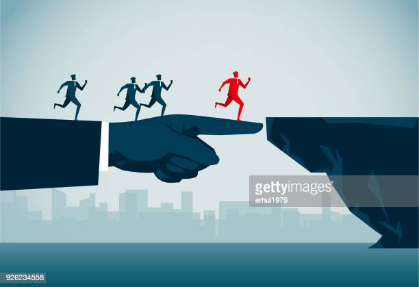 bridging the gap - reconciliation stock illustrations