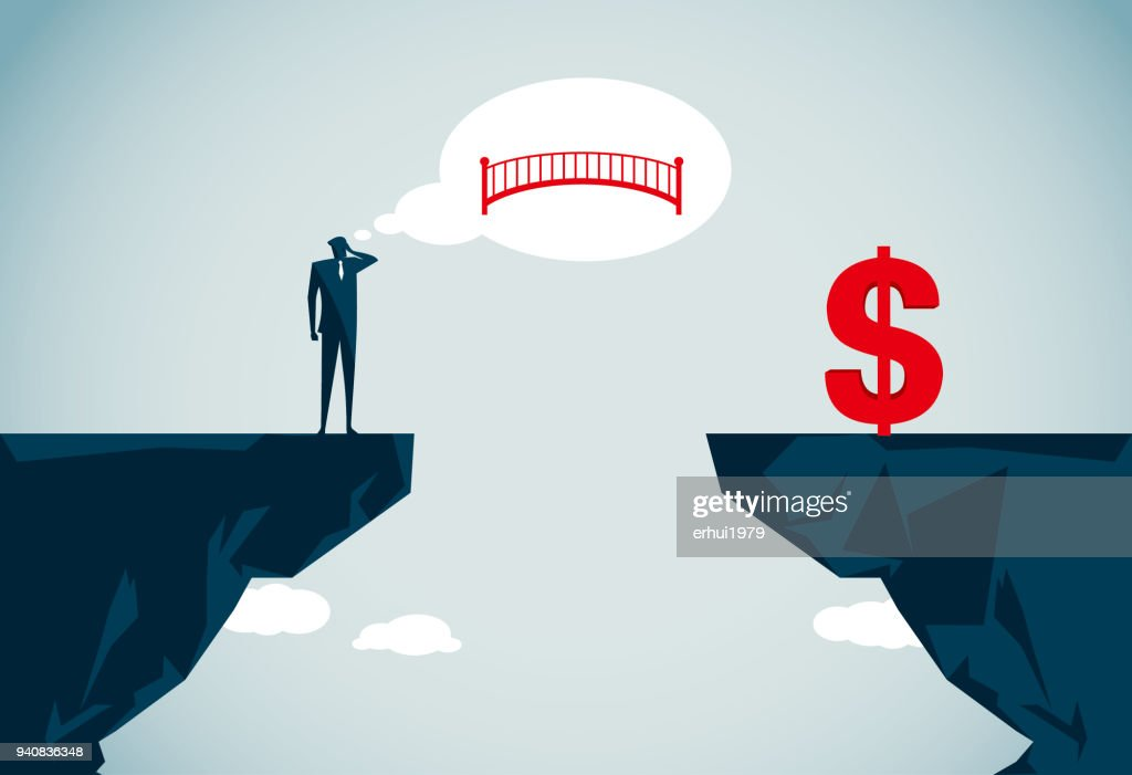 bridging the gap : stock vector