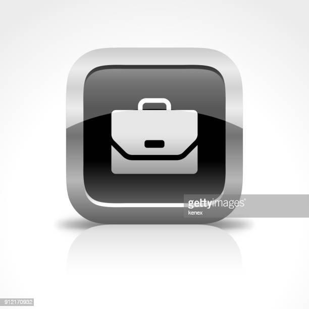 ilustraciones, imágenes clip art, dibujos animados e iconos de stock de cartera brillante botón icono - viaje de negocios