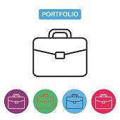 Briefcase icon, portfolio vector icon.