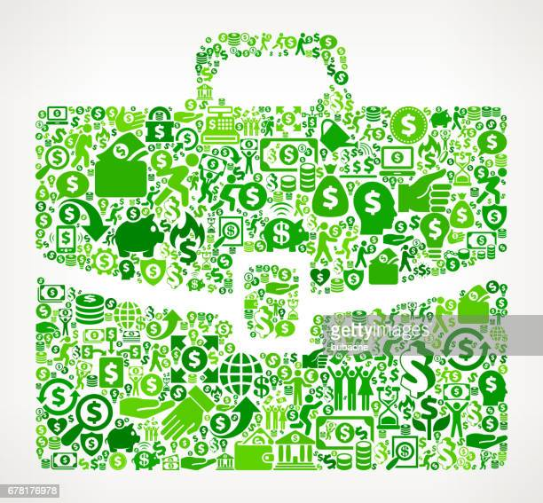 briefcase  money and finance green vector icon background - flipping a coin stock illustrations, clip art, cartoons, & icons