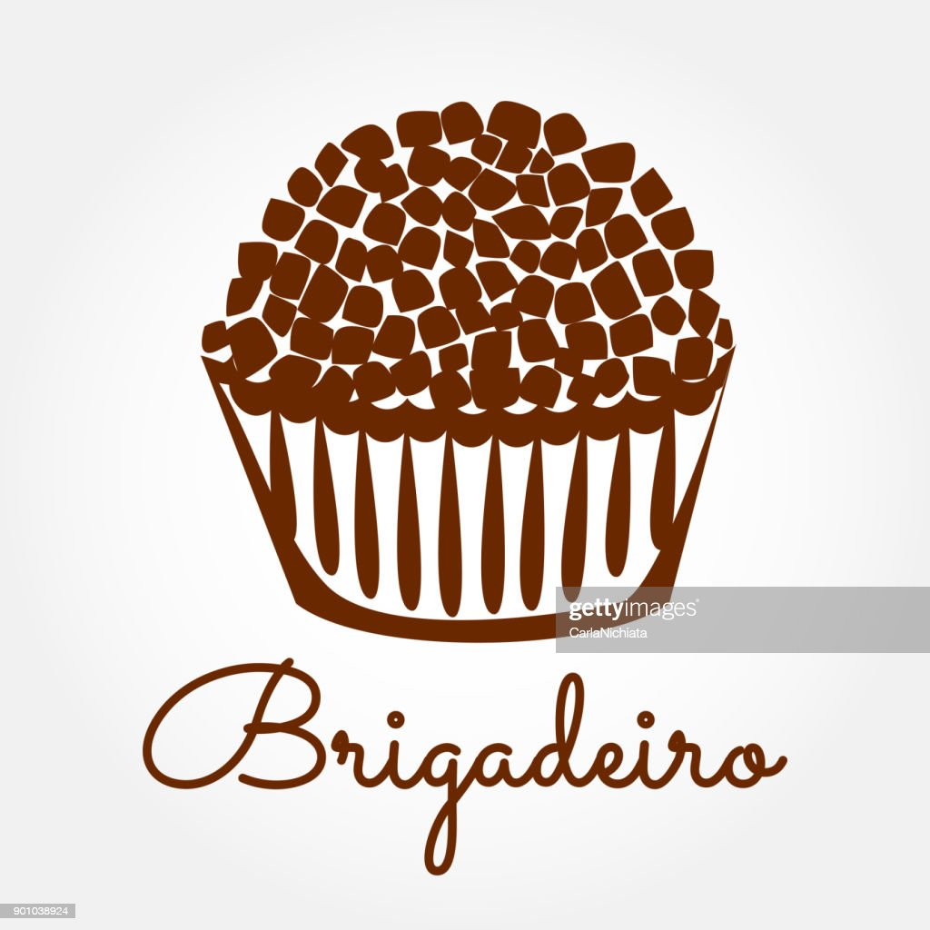 Brigadeiro icon vector. Brazilian sweet candy brigadier design illustration.