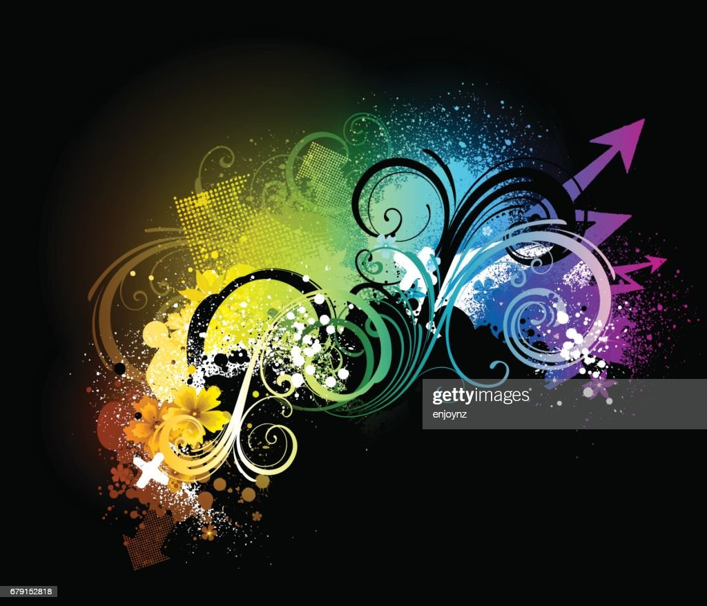 Bright abstract background : stock illustration