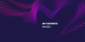 Bright abstract background with a dynamic waves of minimalist style. Vector illustration