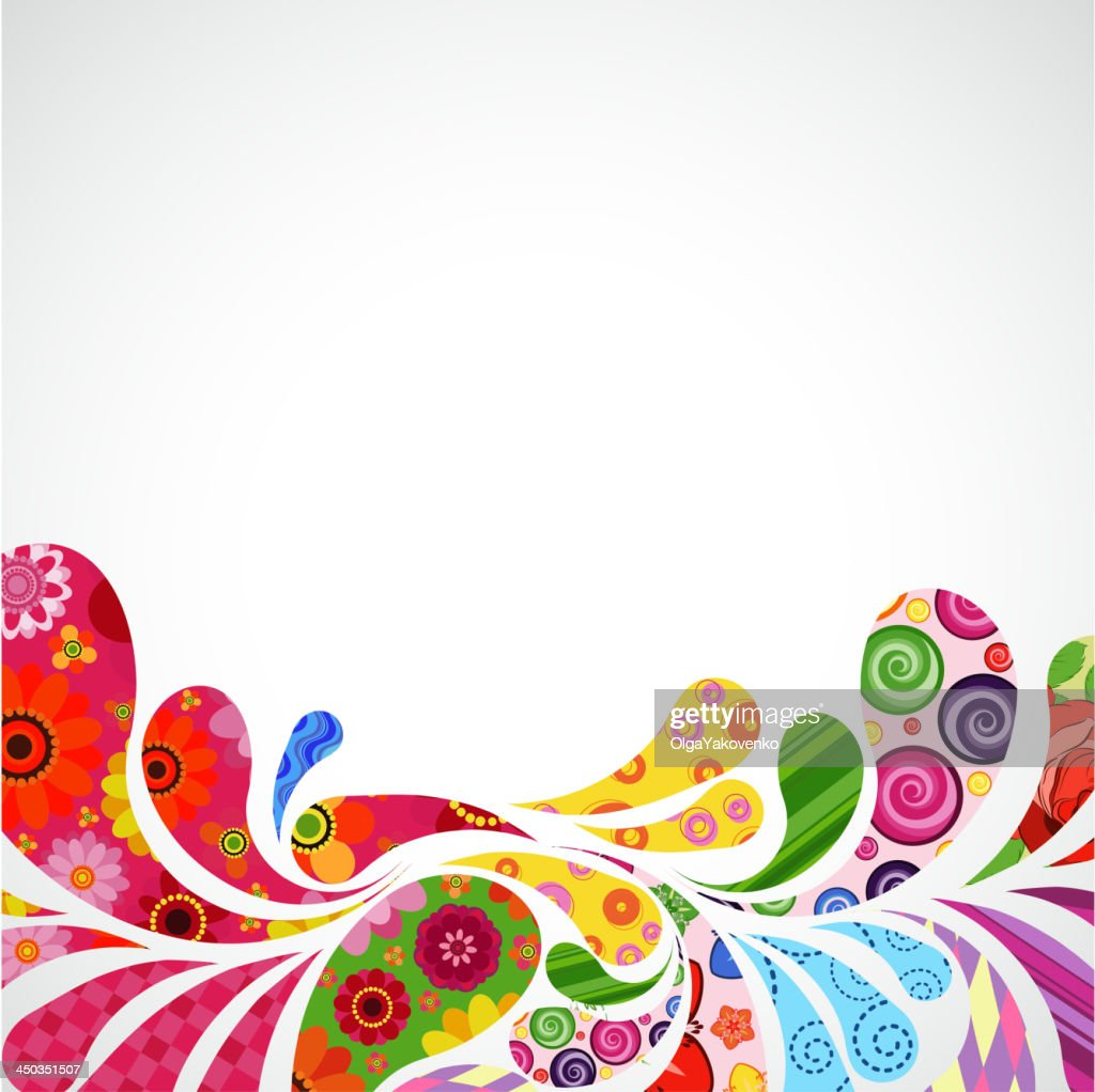 Bright abstract floral background