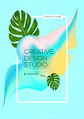 Bright abstract ink for a different design. Tropical. Liquid ink. Modern style trends. Background for banner, card, poster, identity, web design. Holi.