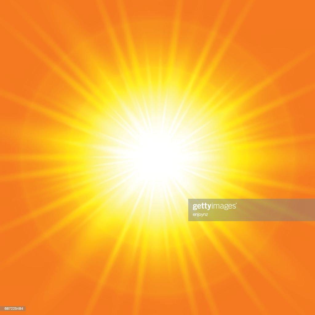 Helle abstrakte orangefarbenen Hintergrund : Stock-Illustration