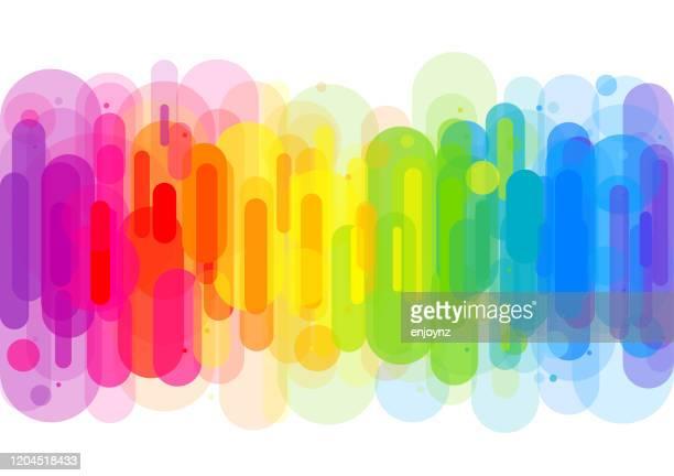 明るい抽象的な虹の背景 - レズビアン点のイラスト素材/クリップアート素材/マンガ素材/アイコン素材