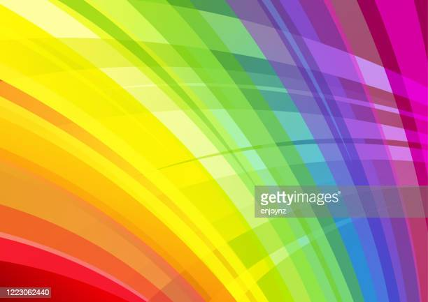 bright abstract rainbow background - pride stock illustrations