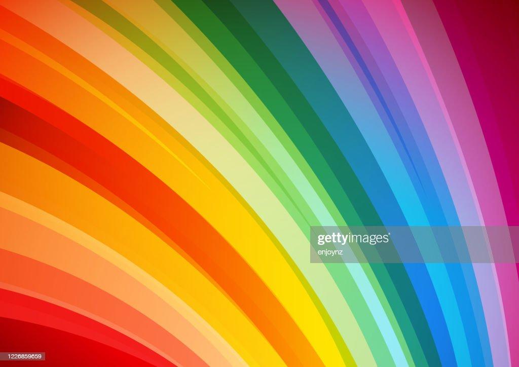 明るい抽象的な虹の背景 : ストックイラストレーション