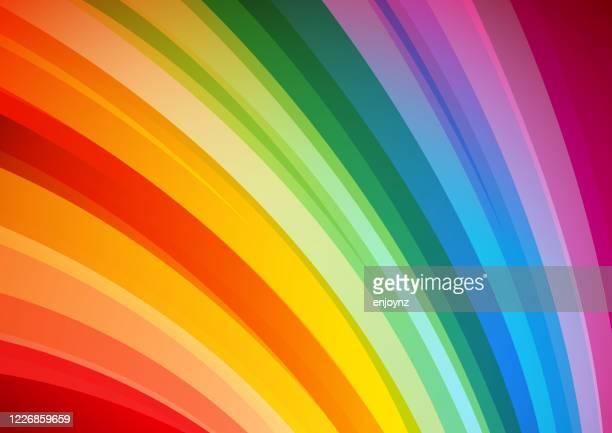 helle abstrakte regenbogen hintergrund - regenbogen stock-grafiken, -clipart, -cartoons und -symbole
