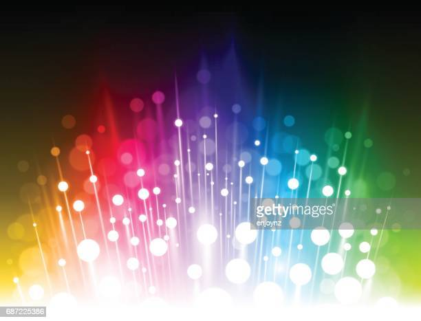bright abstract rainbow background - lighting equipment stock illustrations, clip art, cartoons, & icons