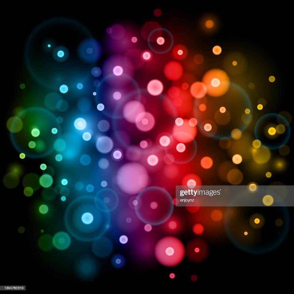 明るい抽象的な虹のボケの背景 : ストックイラストレーション