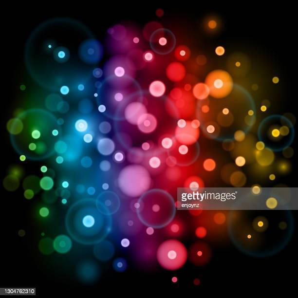 明るい抽象的な虹のボケの背景 - lgbtqiプライドイベント点のイラスト素材/クリップアート素材/マンガ素材/アイコン素材