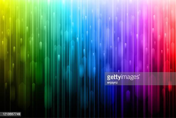 明るい抽象的な虹のライトの背景 - レインボーフラッグ点のイラスト素材/クリップアート素材/マンガ素材/アイコン素材