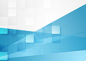 Bright abstract tech geometric background