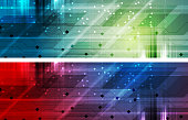 Bright abstract technology headers banners