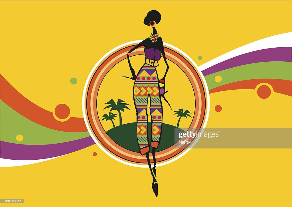 Bright and stylish African girl