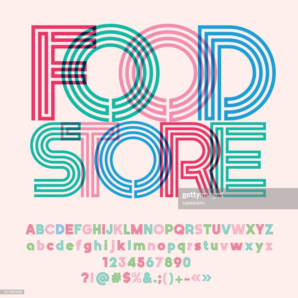 Bright banner with text Food Store