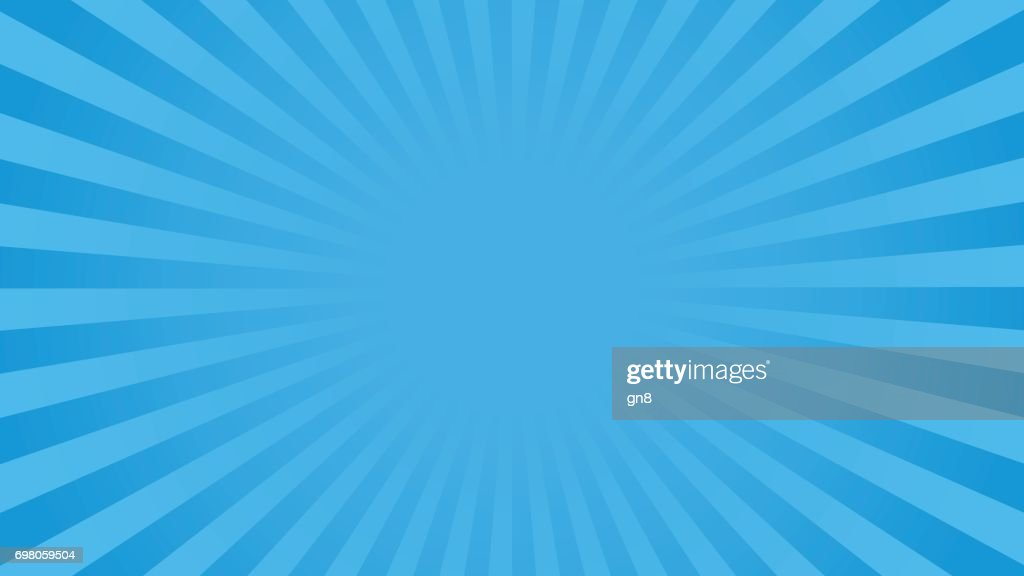 Bright blue rays background