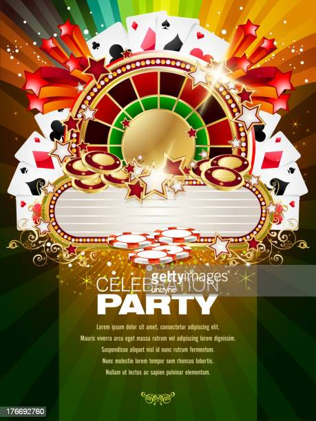 Bright Casino Background with Marquee